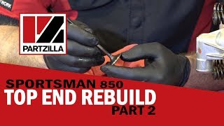3. Polaris Top End Rebuild Part 2: Remove Cylinder Head & Valve Stems | Partzilla.com