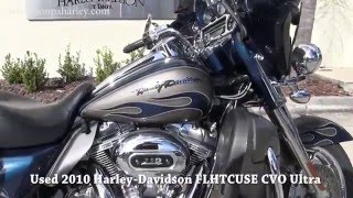 10. Used 2010 Harley Davidson FLHTCUSE CVO Ultra