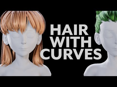 Blender Tutorial - Hair With Curves