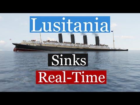 Lusitania Real Time Sinking Animation