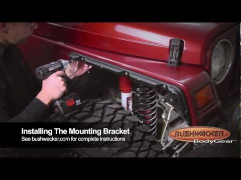 Bushwacker Jeep Wrangler TJ Flat Style Flares 10920-07 Installation Video