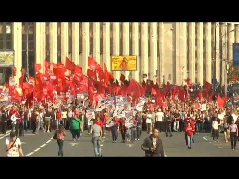 Χιλιάδες διαδήλωσαν στη Μόσχα κατά των αυξημένων ορίων συνταξιοδότησης…