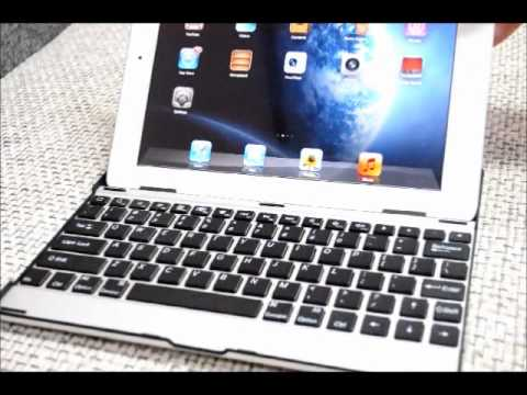 How to use Bluetooth Keyboard with Aluminum Case for iPad 2 & The New iPad