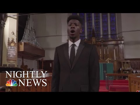 Opera student raises $40,000 in performance for college tuition | NBC Nightly News