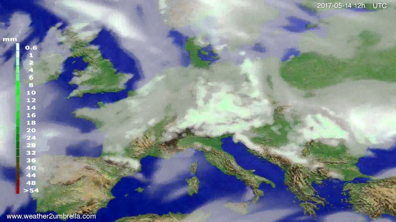 Precipitation forecast Europe 2017-05-12