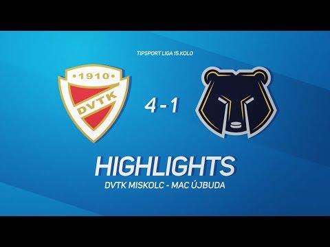 15. forduló: DVTK Jegesmedvék - MAC Újbuda 4-1