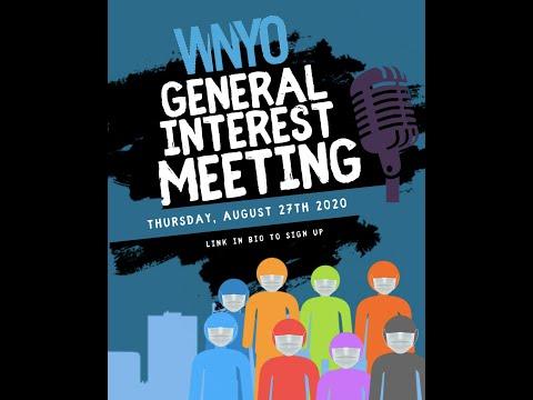 WNYO General Interest Meeting Fall 2020