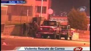 Balacera en Ecuador en vivo del rescate del Presidente Correa del Hospital de la policia PARTE 2/2 Video