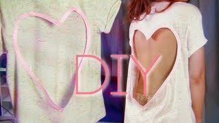 NO SEW CUT OUT SHIRT | HEART DIY - YouTube