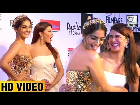 Sonam And Jacqueline's BFF Moment At Filmfare Glam