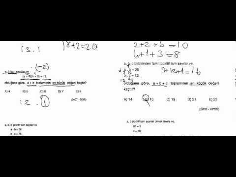 Sayılar Temel Kavramlar Tüm Çıkmış Soru Çözümleri Bölüm 2