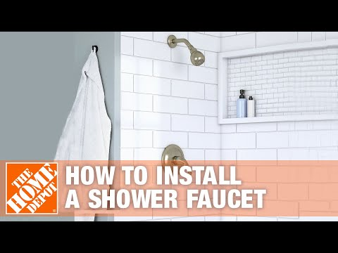 How To Install A New Shower Faucet – The Home Depot