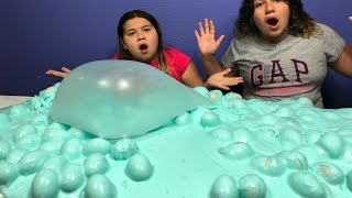6 GALLONS OF SUPER FLUFFY EASTER EGG SLIME - MAKING A GIANT SUPPER FLUFFY SLIME