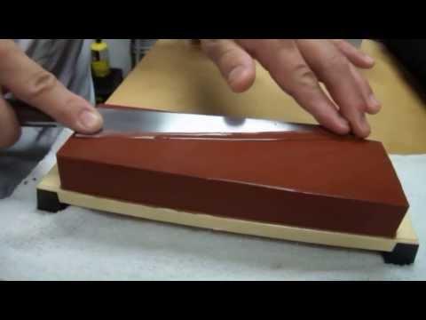 Sharpening Knife on a Whetstone with Master Sushi Chef Hiro Terada.
