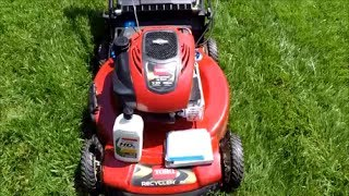 6. Toro Personal Pace Recycler Lawn Mower Model 20334 - Oil Change Replace Air Filter  - May 24, 2017