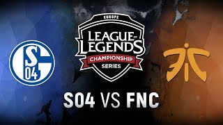 Video S04 vs. FNC - Week 1 Day 2 | EU LCS Summer Split | FC Schalke 04 vs. Fnatic (2018) MP3, 3GP, MP4, WEBM, AVI, FLV Juni 2018