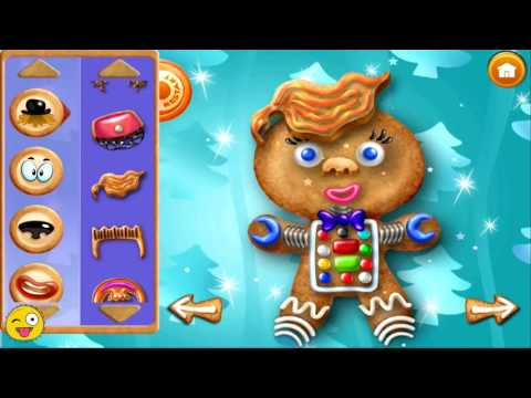 Gingerbread Man Cookie Maker DIY Christmas Fun App Game For Kids