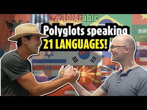 Miehet puhuvat keskenään 21 eri kieltä – Huikeaa katsottavaa!