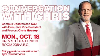 Conversation with Chris: Campus Updates With Provost Chris Heavey