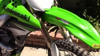 8. 2007 Kawasaki kx250f walkaround/Review