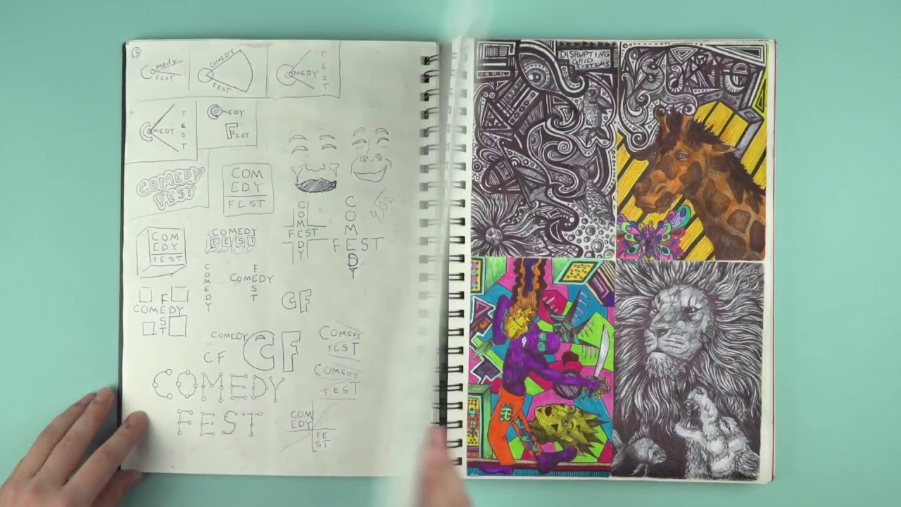 colorful sketchbook cover