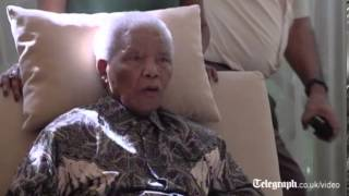 nelson mandela  2013 First Video Of Nelson Mandela Since Hospital Release