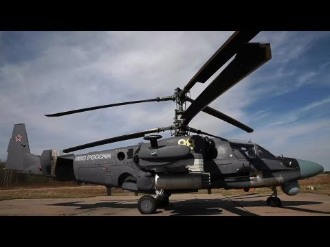 Helicopter - The Ka-52 Alligator is an advanced military helicopter that can fly day and night and in all weathers. It is designed to eliminate armoured and non-armoured ...