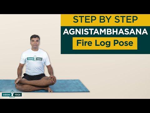 Agnistambhasana (Fire Log or Double Pigeon Pose)