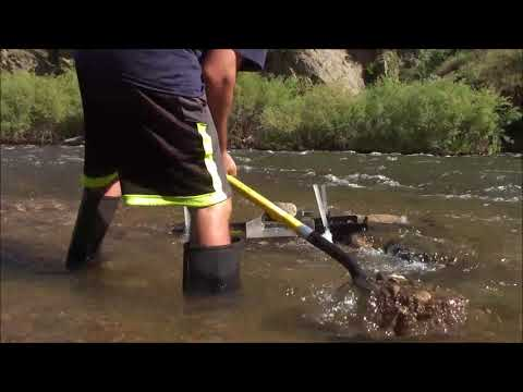 Grizzly gold trap and DIY sluice legs test clear creek colorado