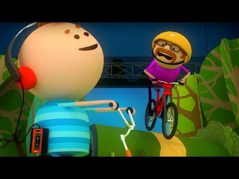 Аркадий Паровозов - Почему опасно кататься на велосипеде в наушниках🚴 - мультфильм детям (видео)