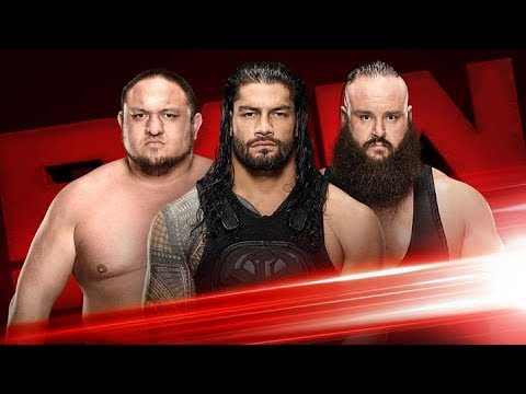 Roman Reigns vs Braun strowman vs Samoa Joe - Triple Threat | Monday Night Raw |WWE Raw Highlights