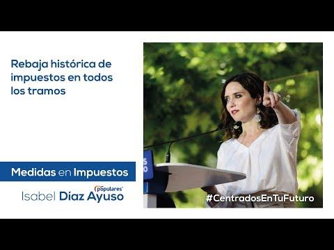 Isabel Díaz Ayuso - Impuestos