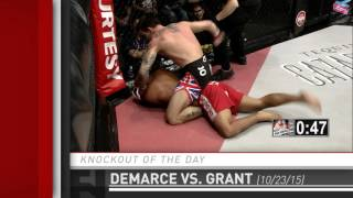 Knockout of the Day: Curtis Demarce Ground and Pounds Dia Grant at HK46 by Fight Network