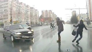 Случайно выжившие пешеходы, подборка счастливчиков