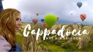 Goreme Turkey  City pictures : Hot Air Balloon Flight over Cappadocia Turkey 2015 GOPRO HERO4 HD; Fairy Chimneys, Red Valley