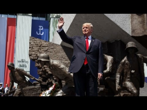 Trump's full speech to crowd in Poland (видео)