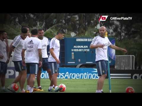 Entrenamiento de la Selección Argentina