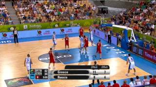 Play of the Game K.Papanikolaou GRE-RUS EuroBasket 2013