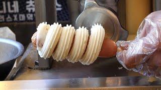 Meet the churros and the hotdog - churrodog 3,500KRW / korean street food
