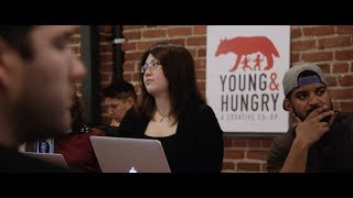 Housed in the School of Advertising is Young & Hungry Creative Co-op, a working ad agency where aspiring art directors, ...