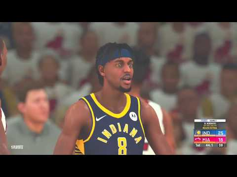 (NBA 2K20) Playoffs Simulation RD 1 Game 1 (Indiana Pacers vs Miami Heat)