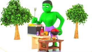 Video HULK BEST CHEFF EVER ❤ Spiderman, Hulk & Frozen Play Doh Cartoons For Kids MP3, 3GP, MP4, WEBM, AVI, FLV Juni 2018