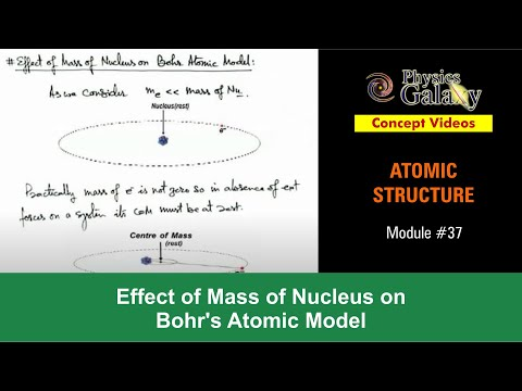 37. Physics | Atomic Structure | Effect of Mass of Nucleus on Bohr's Atomic Model | Ashish Arora