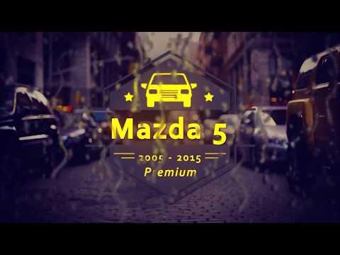 """Чехлы на Mazda 5, серии """"Premium"""" - серая строчка"""