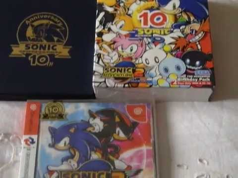 10th - It's finally arrived! the renewed SA2 10th anniversary birthday pack. These were only available in Japan for just 2 days, pretty rare huh...welll....no lol, ...