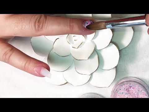 Uñas decoradas - Uñas acrílicas/ usando placa para estampado/decoradas con perlas y swarosvki