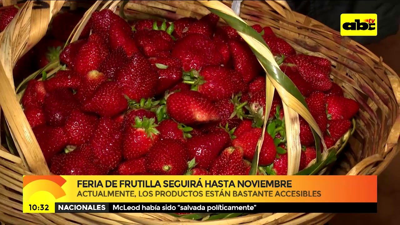 Feria de la Frutilla seguirá hasta noviembre