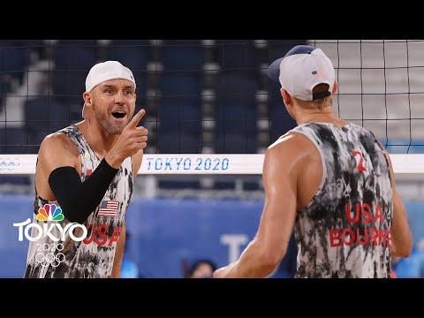 USA vs. Italy | Tokyo Olympics 2020: Men's Beach Volleyball Highlights | NBC Sports