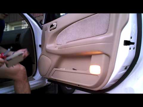 DIY: 1996 Nissan Maxima (1995-1999) V6 Passenger Door Panel Removal Mirror replacement  by onza04
