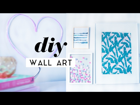 DIY Wall Art Room Decor Pieces | Gallery Wall Ideas 2017